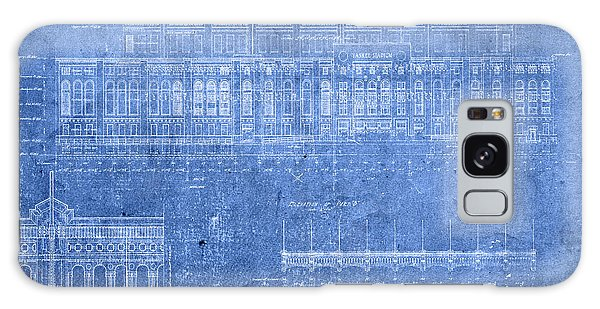 Yankee Stadium New York City Blueprints Galaxy Case