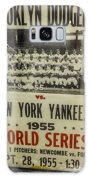 Brooklyn Dodgers Galaxy Case - Yankees And Dodgers World Series 1955 by Image Takers Photography LLC - Laura Morgan