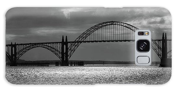 Yaquina Bay Bridge Black And White Galaxy Case
