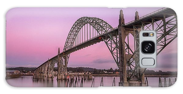 Yaquina Bay Bridge In Blue Light Galaxy Case