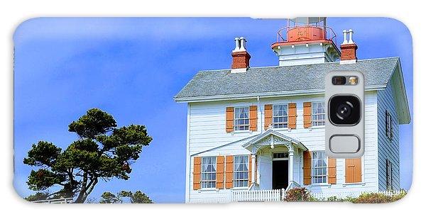 Yaquina Bay Lighthouse Galaxy Case