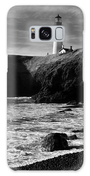 Yaquina Head Lighthouse Galaxy Case by Lara Ellis