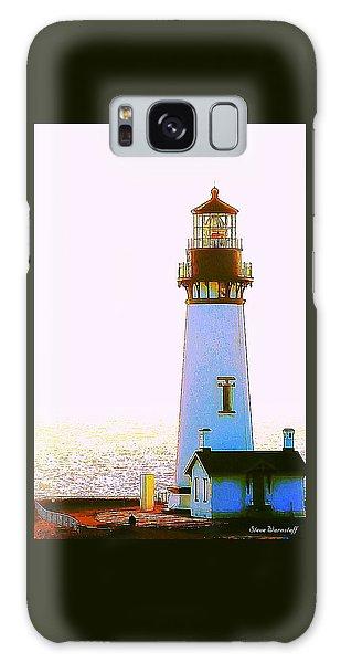Yaquina Head Lighthouse Galaxy Case by Steve Warnstaff