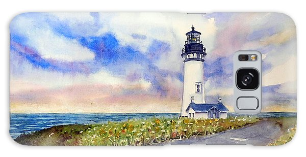 Yaquina Head Lighthouse - Springtime Galaxy Case