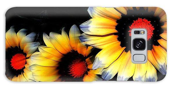 Yard Flowers Galaxy Case