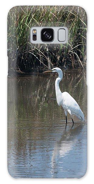 Yawkey Wildlife Refuge - Great White Egret II Galaxy Case by Suzanne Gaff
