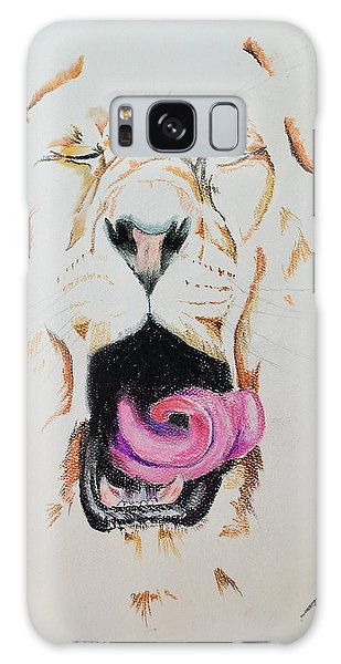 Yawning Lion  Galaxy Case
