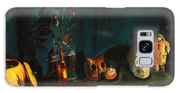 Yeah Its Halloween Galaxy Case by Jane Autry