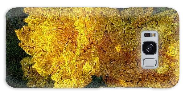 Yellow Abstraction Galaxy Case