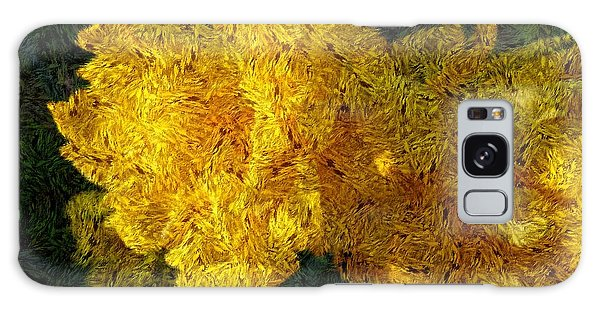 Yellow Abstraction Galaxy Case by Jean Bernard Roussilhe