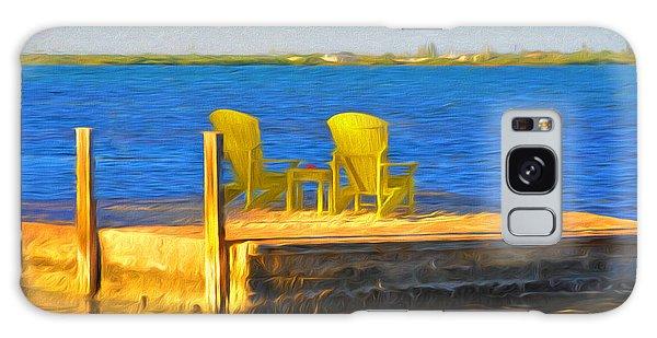 Yellow Adirondack Chairs On Dock In Florida Keys Galaxy Case