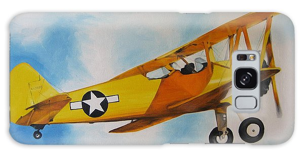 Yellow Airplane - Detail Galaxy Case by Jindra Noewi