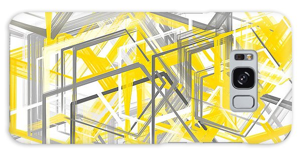 Shapes Galaxy Case - Yellow And Gray Geometric Shapes Art by Lourry Legarde