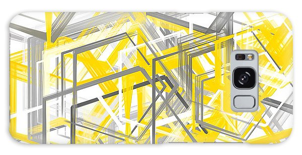 Bright Galaxy Case - Yellow And Gray Geometric Shapes Art by Lourry Legarde