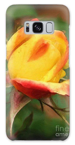 Yellow And Orange Rosebud Galaxy Case
