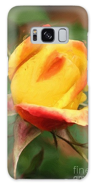 Yellow And Orange Rosebud Galaxy Case