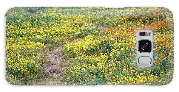 Yellow And Orange Wildflowers Along Trail Near Diamond Lake Galaxy Case by Jetson Nguyen