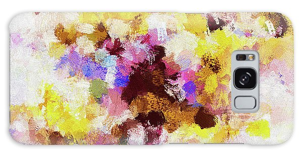 Yellow And Pink Abstract Painting Galaxy Case by Ayse Deniz