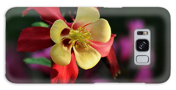 Yellow And Red Columbine Galaxy Case by Kenny Glotfelty