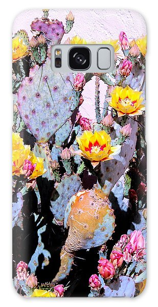 Yellow And Red Flower Galaxy Case by M Diane Bonaparte