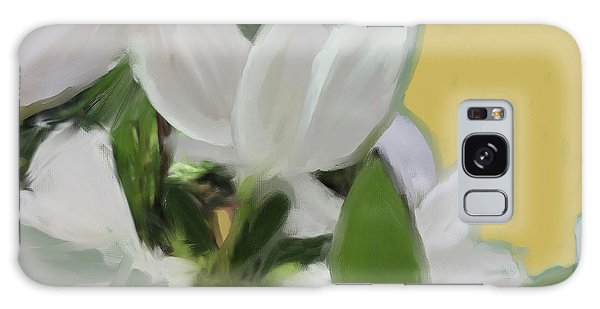 Yellow And White Flower Art 1  Galaxy Case