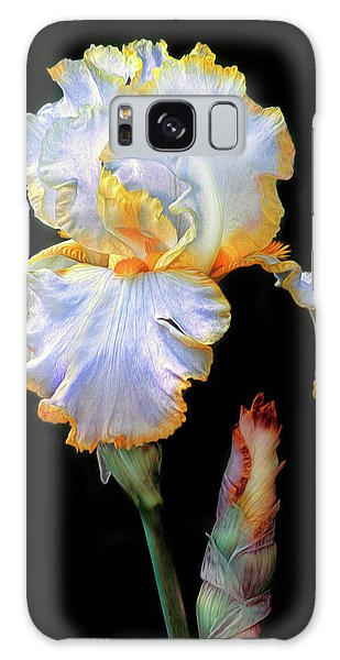 Yellow And White Iris Galaxy Case by Dave Mills