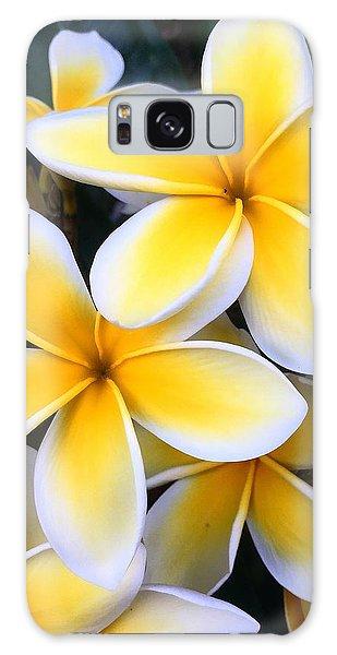 Yellow And White Plumeria Galaxy Case
