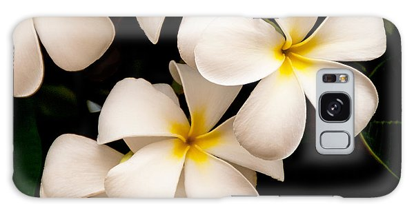 Yellow And White Plumeria Galaxy Case