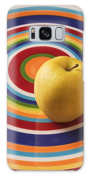 Apple Galaxy S8 Case - Yellow Apple  by Garry Gay