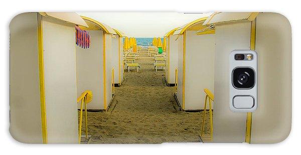 Yellow Beach Cabanas Galaxy Case