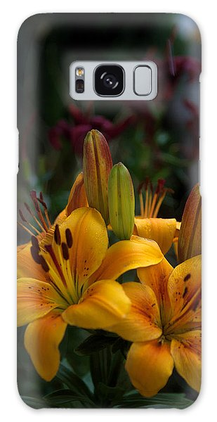 Yellow Beauties Galaxy Case by Cherie Duran