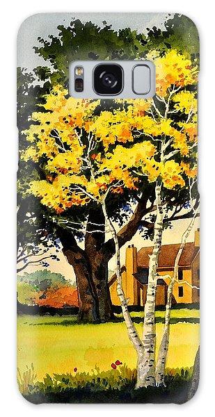 Yellow Birches Galaxy Case