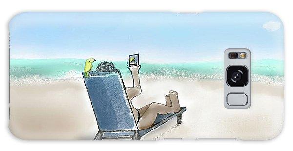 Yellow Bird Beach Selfie Galaxy Case