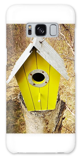 House Galaxy Case - Yellow Bird House by Matthias Hauser