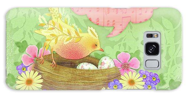 Yellow Bird's Love Song Galaxy Case
