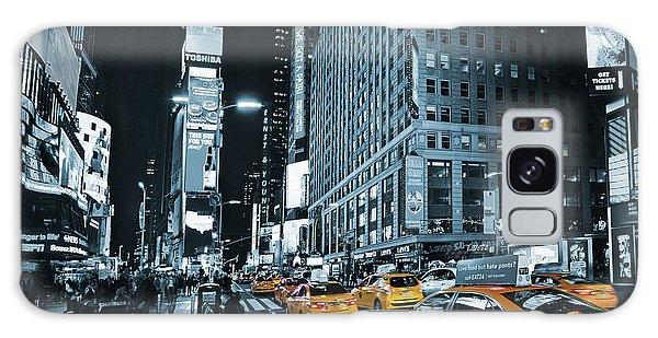 Yellow Broadway At Night - Nyc Galaxy Case