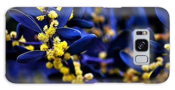 Yellow Bursts In Blue Field Galaxy Case