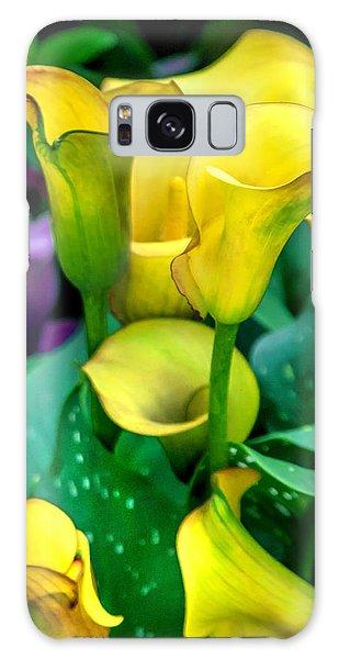 Yellow Calla Lilies Galaxy Case