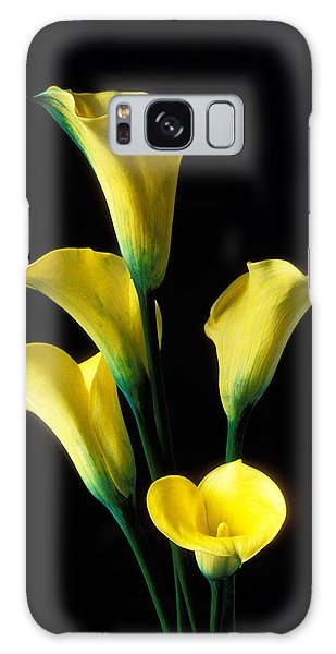 Lily Galaxy Case - Yellow Calla Lilies  by Garry Gay