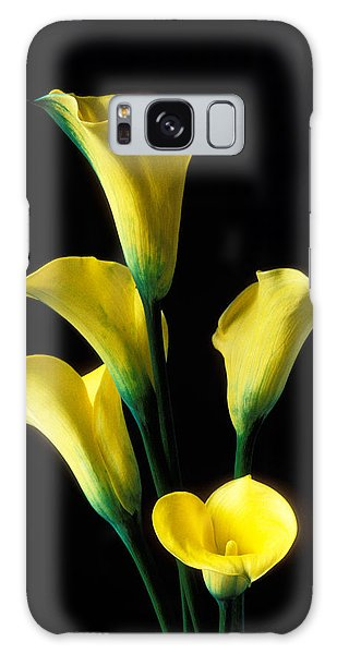Lily Galaxy S8 Case - Yellow Calla Lilies  by Garry Gay