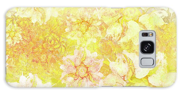 Yellow Camellia Hedges Galaxy Case