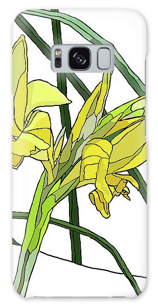 Yellow Canna Lilies Galaxy Case