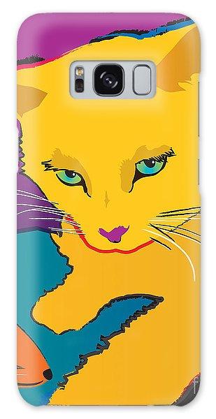 Yellow Cat Galaxy Case