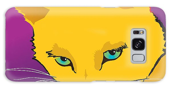 Yellow Cat Square Galaxy Case