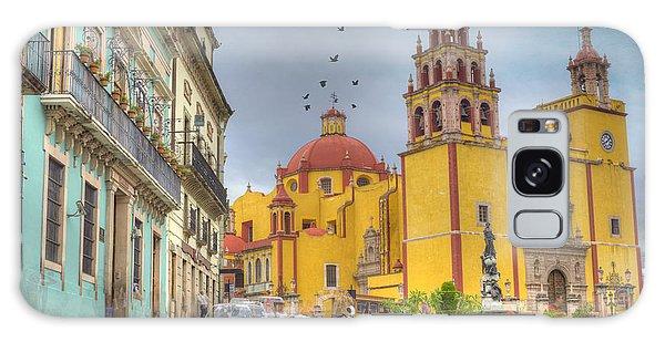 Place Of Worship Galaxy Case - Yellow Church by Juli Scalzi