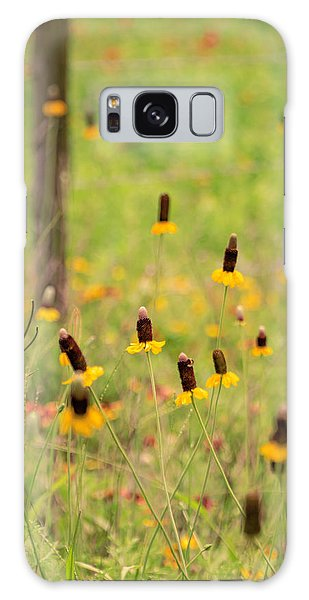 Yellow Cone Flower Galaxy Case