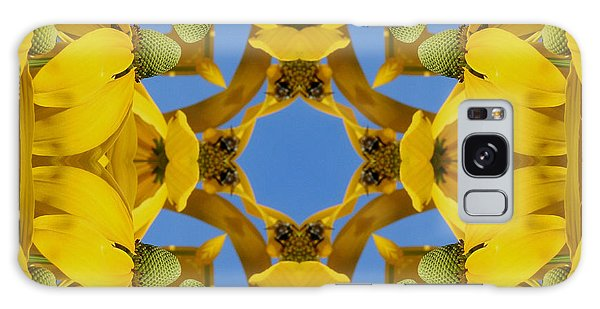 Yellow Coneflower Kaleidoscope Galaxy Case