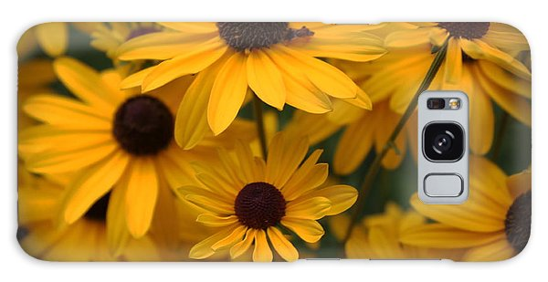 Yellow Coneflowers 2 Galaxy Case by Erica Hanel