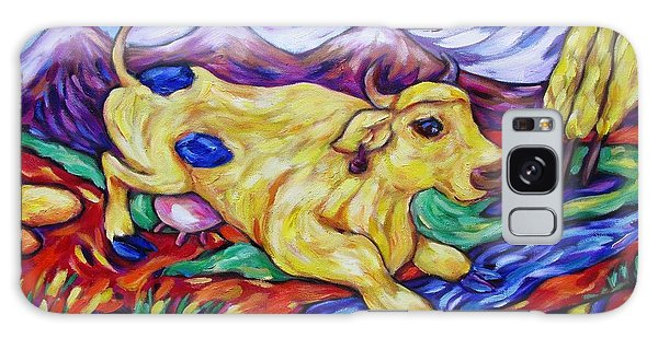 Yellow Cow Jumps The Creek Galaxy Case