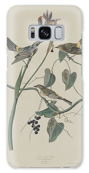 Yellow-crown Warbler Galaxy Case by Rob Dreyer